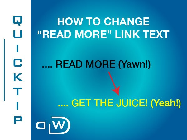 "How to Change ""Read More"" Link Text"